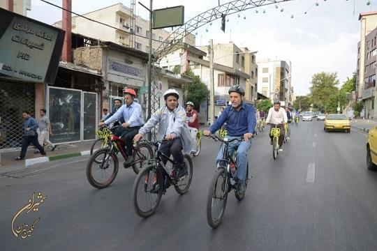 فرماندار شمیرانات هم دوچرخه سوار شد