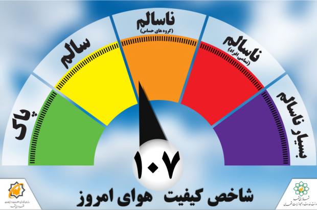 اختلال در سایت شرکت کنترل کیفیت هوا