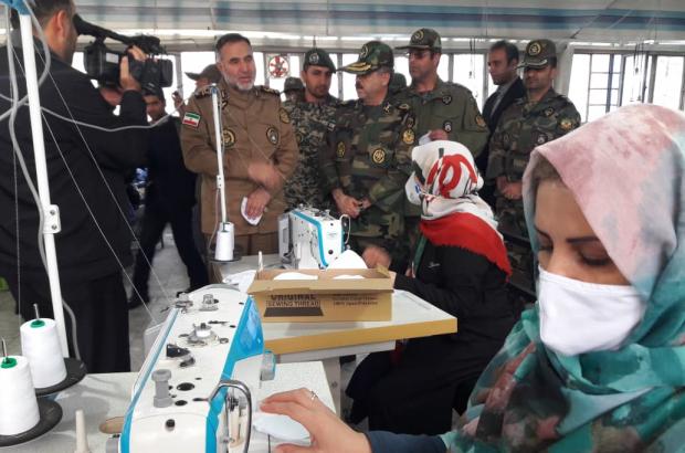 خطوط تولید لباسهای نظامی نزاجا به خط تولید ماسک و لباس حفاظتی تبدیل شد
