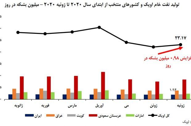 افزایش سهم ایران در تولید نفت اوپک