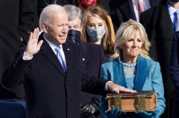 جو بایدن رییس جمهوری آمریکا سوگند خورد