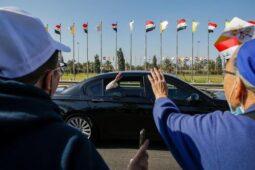 استقبال از پاپ فرانسیس رهبر مسیحیان کاتولیک جهان در شهر بغداد